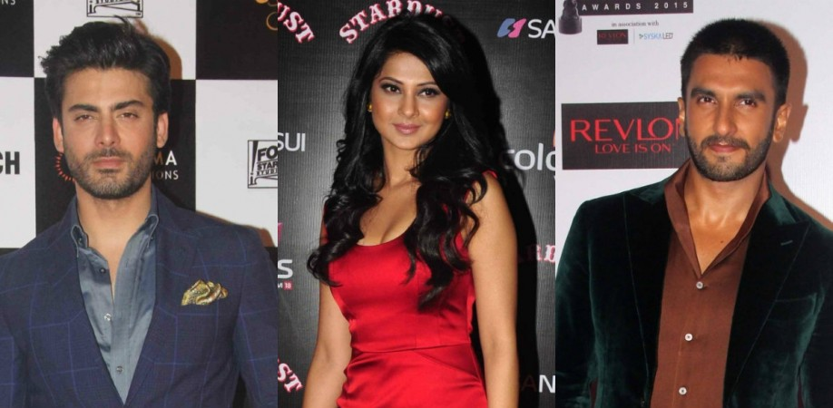Fawad Khan, Jennifer Winget and Ranveer Singh in a film