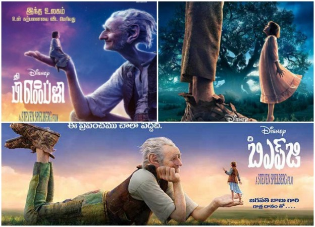 The BFG Telugu, Tamil versions posters