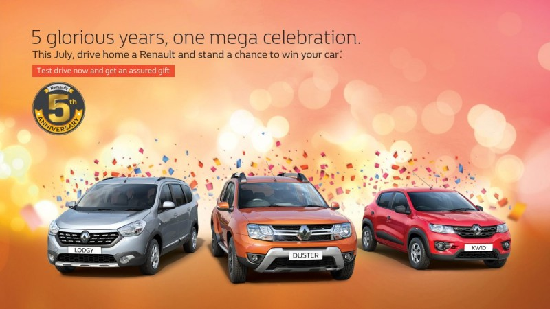 Renault India celebrates 5th anniversary with discounts and benefits