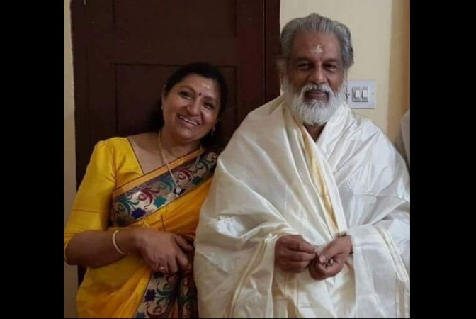 Yesudas with his wife Prabha