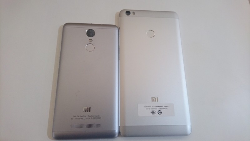 Xiaomi Mi Max and Redmi Note 3