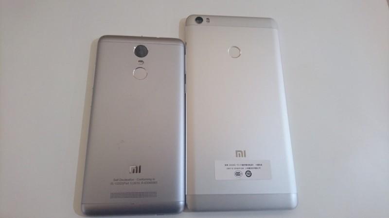 Xiaomi Mi Max and Redmi Note 3