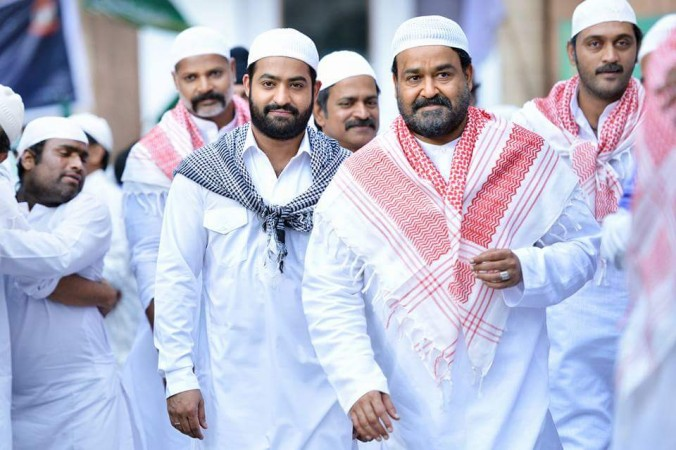 Junior NTR and Mohanlal in Janatha Garage