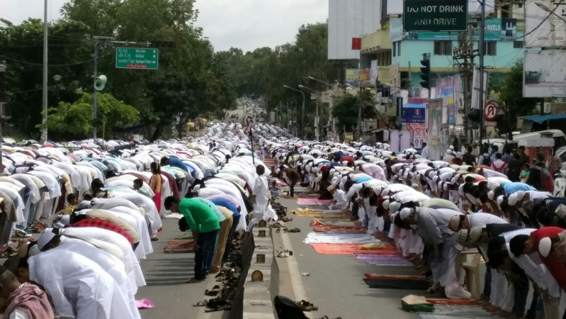 Muslims offer prayer on Eid ul-Fitr