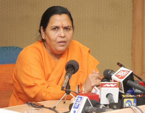 Union Minister for Water Resources, River Development and Ganga Rejuvenation, Sushri Uma Bharti addressing a Press Conference, in New Delhi on Oct. 27, 2014..