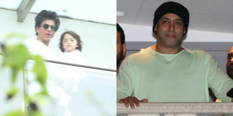 Shah Rukh Khan, AbRam and Salman Khan greet fans on Eid