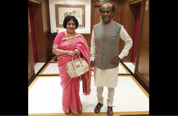 Latha Rajinikanth and Rajinikanth
