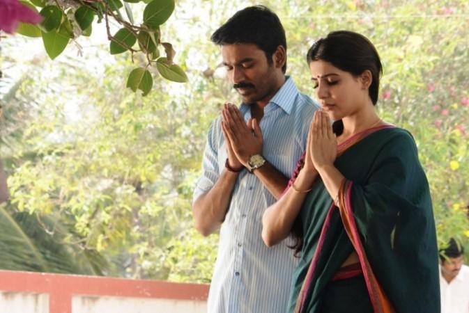 Samantha and Dhanush in Thanga Magan