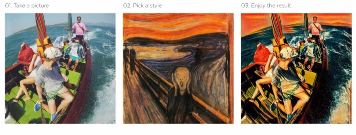 Prisma picture app interace