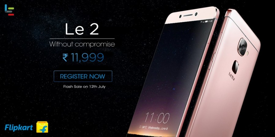 LeEco Le 2's third flash sale in India takes place on July 12