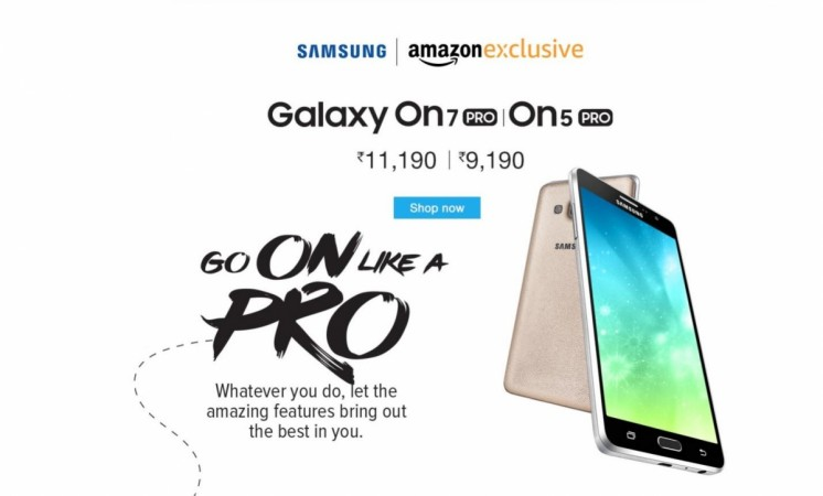 Samsung Galaxy On7 Pro, On5 Pro goes on sale via Amazon India; price, specifications