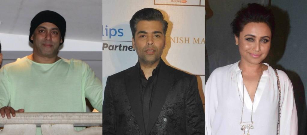 Salman Khan, Karan Johar and Rani Mukerji