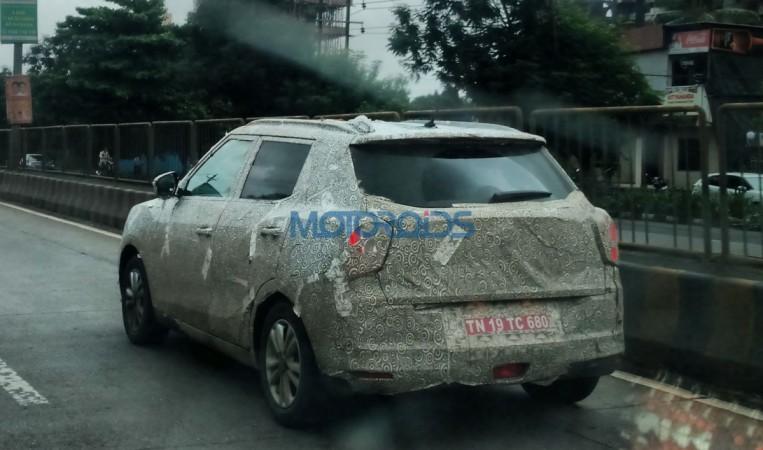 Mahindra SsangYong Tivoli compact SUV returns in fresh spy shots