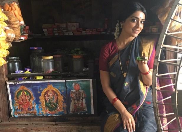 Shriya Saran's look in Simbu's 'AAA'