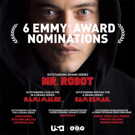 'Mr Robot' garners six Emmy nominations including Best Actor for Rami Malek