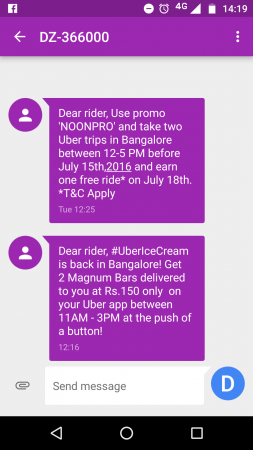Uber Bangalore
