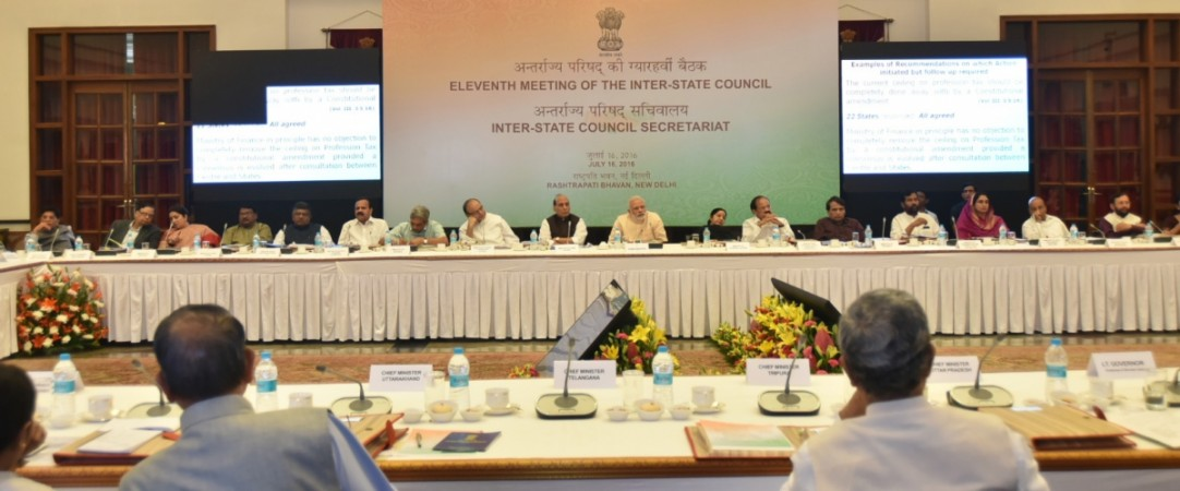 modi inter state council meeting chief ministers arun jaitley july 16 saturday rajnath singh