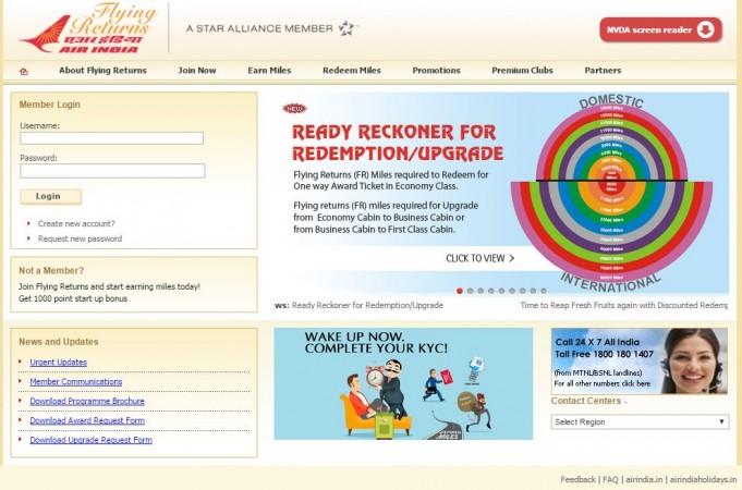 Air India flyer returns programme