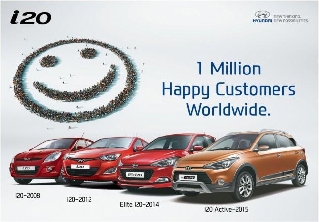 Hyundai i20 models surpasse 1 million unit sales