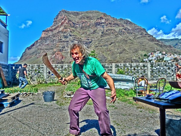 Man with machete