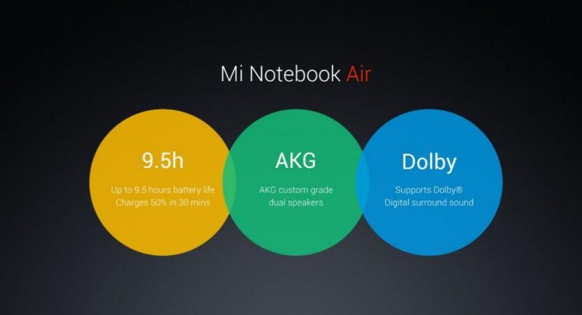 Xiaomi Mi Note Air features