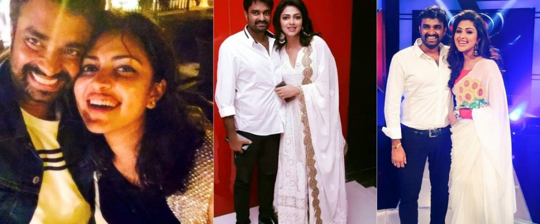 Amala Paul with her husband AL Vijay