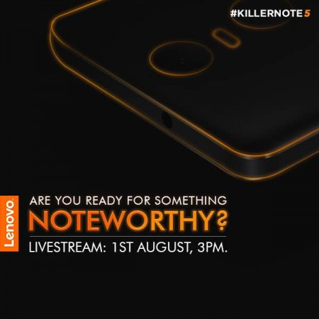 Lenovo K5 Note launch live streaming in India: Where to watch the event live?