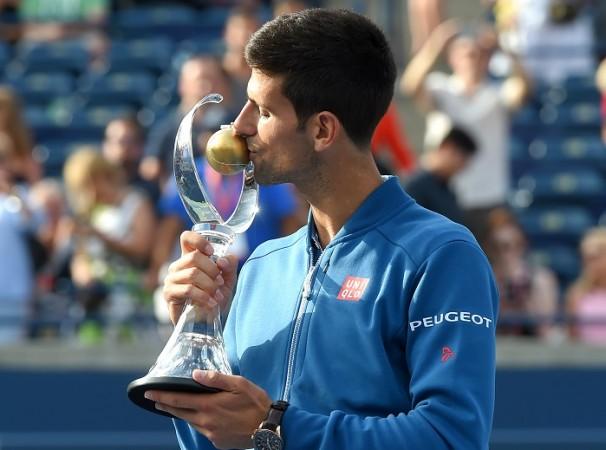 Novak Djokovic Rogers Cup trophy