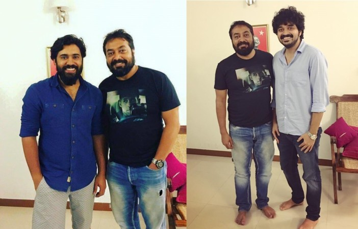 Anurag Kashyap with Nivin Pauly and Farhaan Fassil