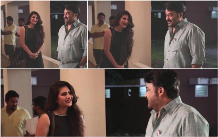 Neha Saxena with Mohanlal
