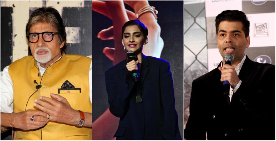 Amitabh Bachchan, Sonam Kapoor, Karan Johar