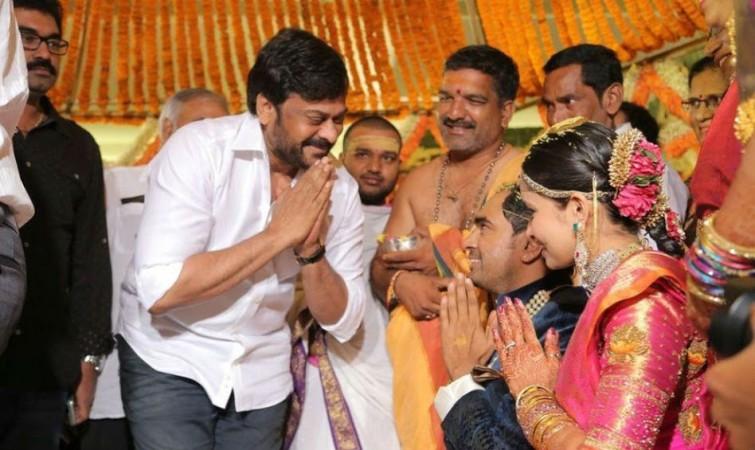Chiranjeevi at Director Krish-Ramya Velaga's wedding