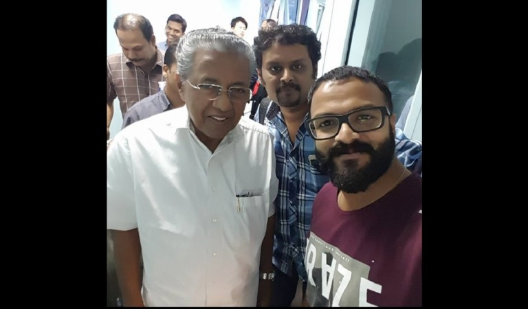 Jayasurya and Ranjith Sankar with Pinarayi Vijayan