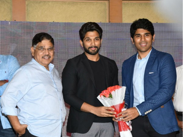 Allu Arjun with his brother Sirish and father Aravind at