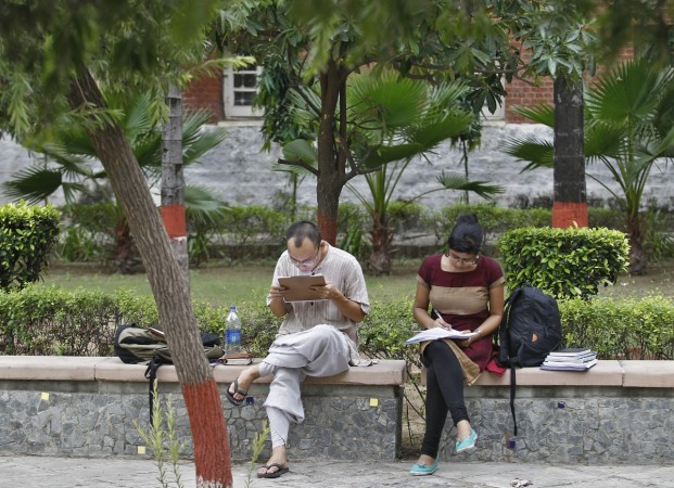 Students studying in Delhi University