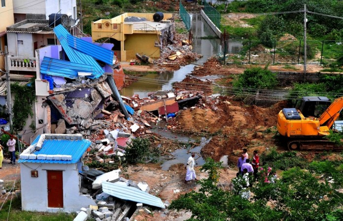 Image result for demolition of encroachments on nalas and illegal structures