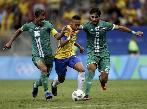 Neymar Brazil Iraq Rio 2016 Olympics