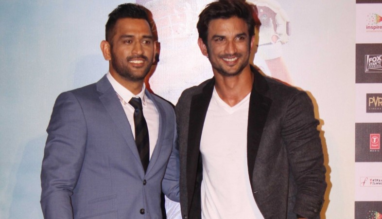 "'MS Dhoni-The Untold Story' trailer crosses 3 million views. Pictured: MS Dhoni and actor Sushant Singh Rajput at the trailer launch of ""M.S. Dhoni-The Untold Story"""