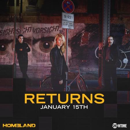 'Homeland' will be returning on Jan. 15, 2017