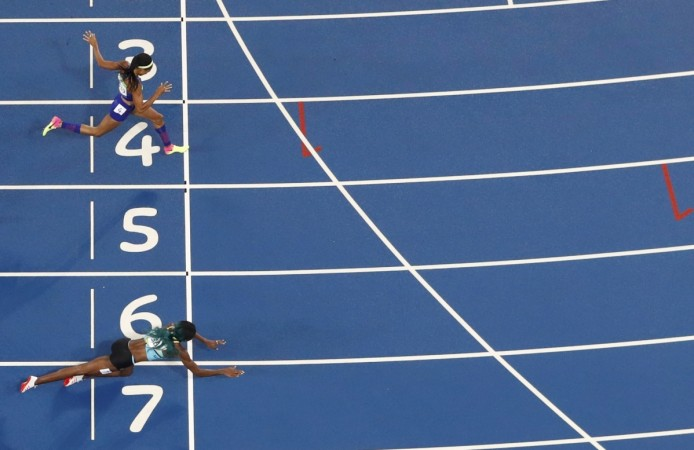 Image result for Shaunae Miller dive