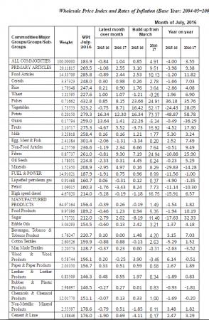 wpi inflation july ministry data