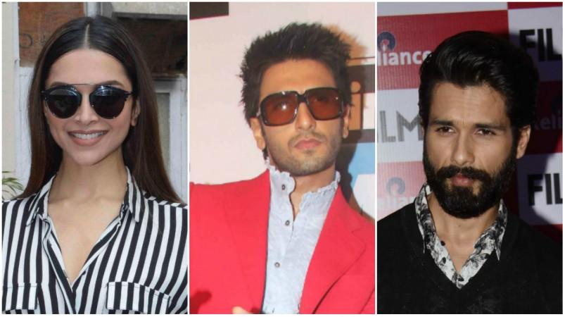 Deepika Padukone, Ranveer Singh, Shahid Kapoor