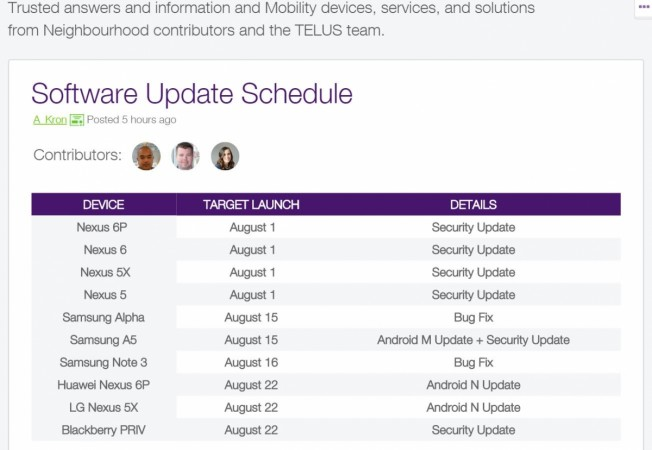 Android 7.0 Nougat release date revealed