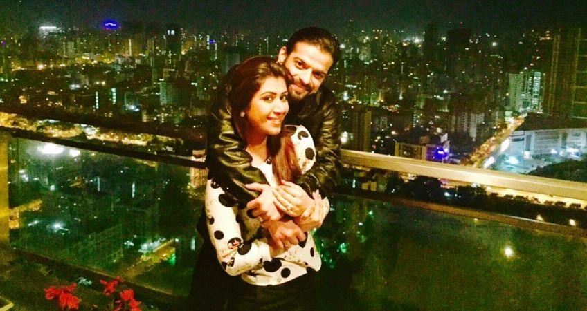 """Ankita Karan Patel's birthday celebrations. Pictured: """"Yeh Hai Mohabbatein"""" actor Karan Patel and wife Ankita Karan Patel"""