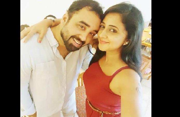 Kaniha with her husband Shyam