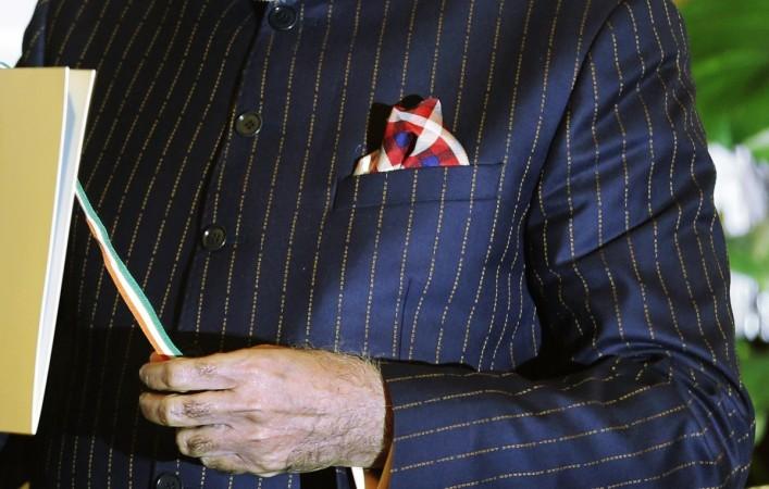 narendra modi gold suit