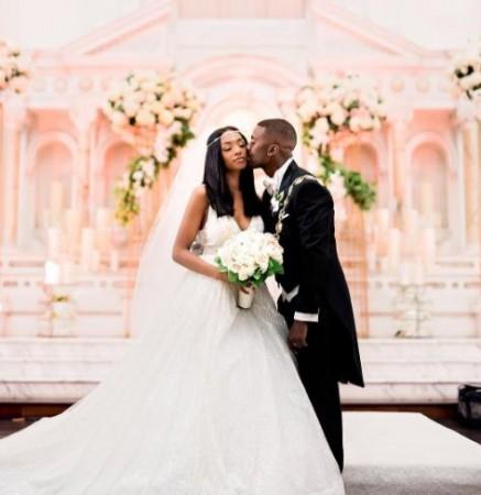Princess and Ray J at their wedding