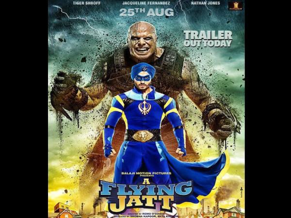 """""""A Flying Jatt"""" box office prediction. Pictured: """"A Flying Jatt"""" poster"""