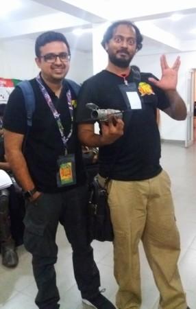 Jatin Varma, founder, Comic Con India with Navin Weeraratne, Lanka Comic Con co-organiser