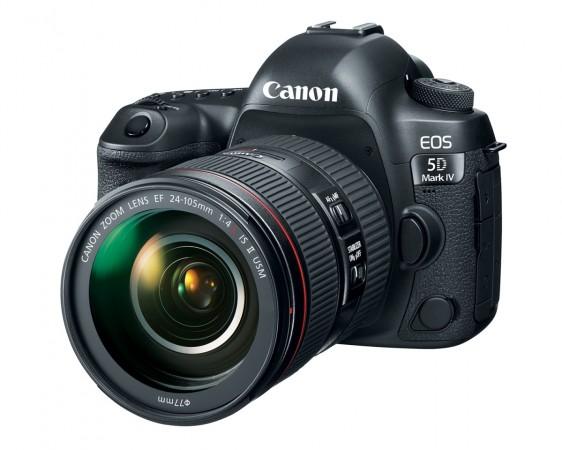 Canon EOS 5D Mark IV three quarter view